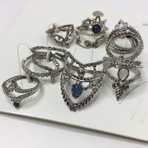 Stacking and midi ring set H and M